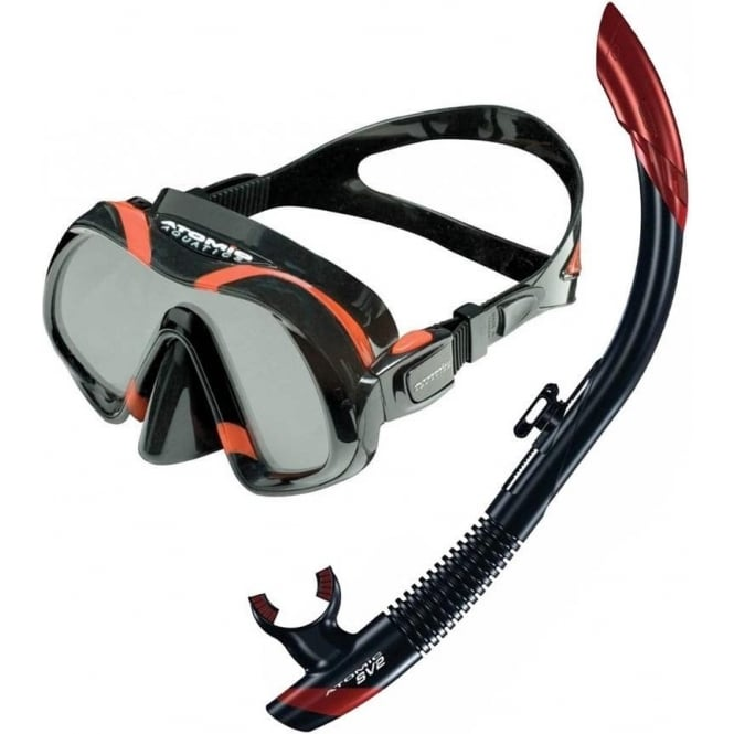 Atomic Aquatics Venom Mask & SV2 Dry Snorkel Set