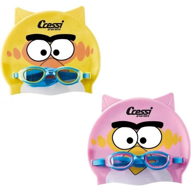 Cressi Swim Kid Cap and Goggles set