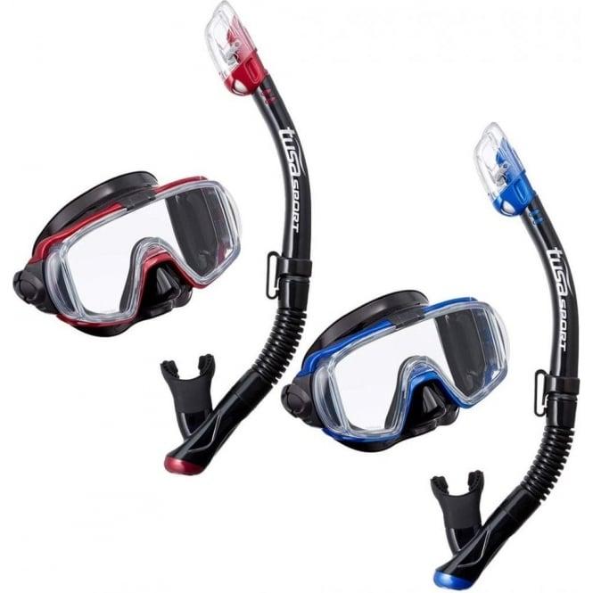 Tusa Visio Tri-Ex Mask & Dry Snorkel Set