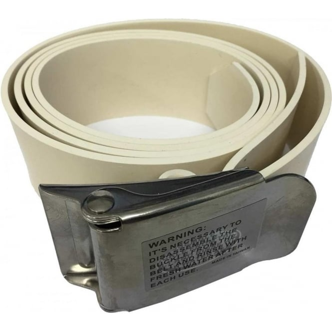Submerge White Rubber Weight Belt