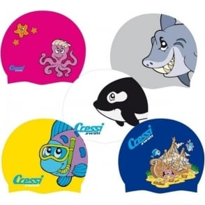 Junior Fun Silicone Swim Cap