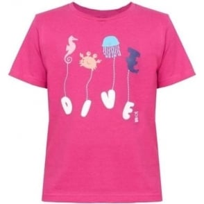 Kids Navy Pink T-Shirt