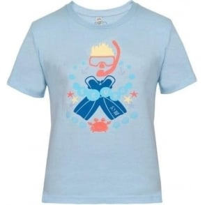 Kids Scuba T-Shirt Light Blue