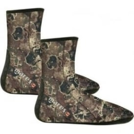 Camo Open Cell Socks Brown
