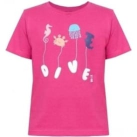 Kids Navy Pink T-Shirt