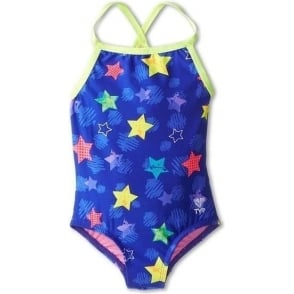 61747c0c86 Maru Zappit Rave Back Girls Swimsuit with Silver Sparkle Stars